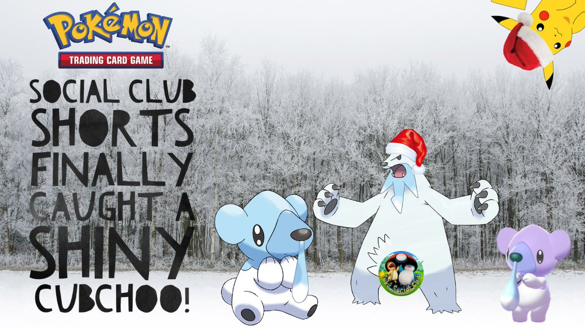 New Social Club #Shorts video now live on our channel! 60 seconds of Shiny #Pokemon hunting! Check it out!  #PokemonGO #shiny #shinypokemon #pokemon #pokemongoholiday #cubchoo #shinycubchoo #PokemonSwordShield #beartic #pokesocialclub