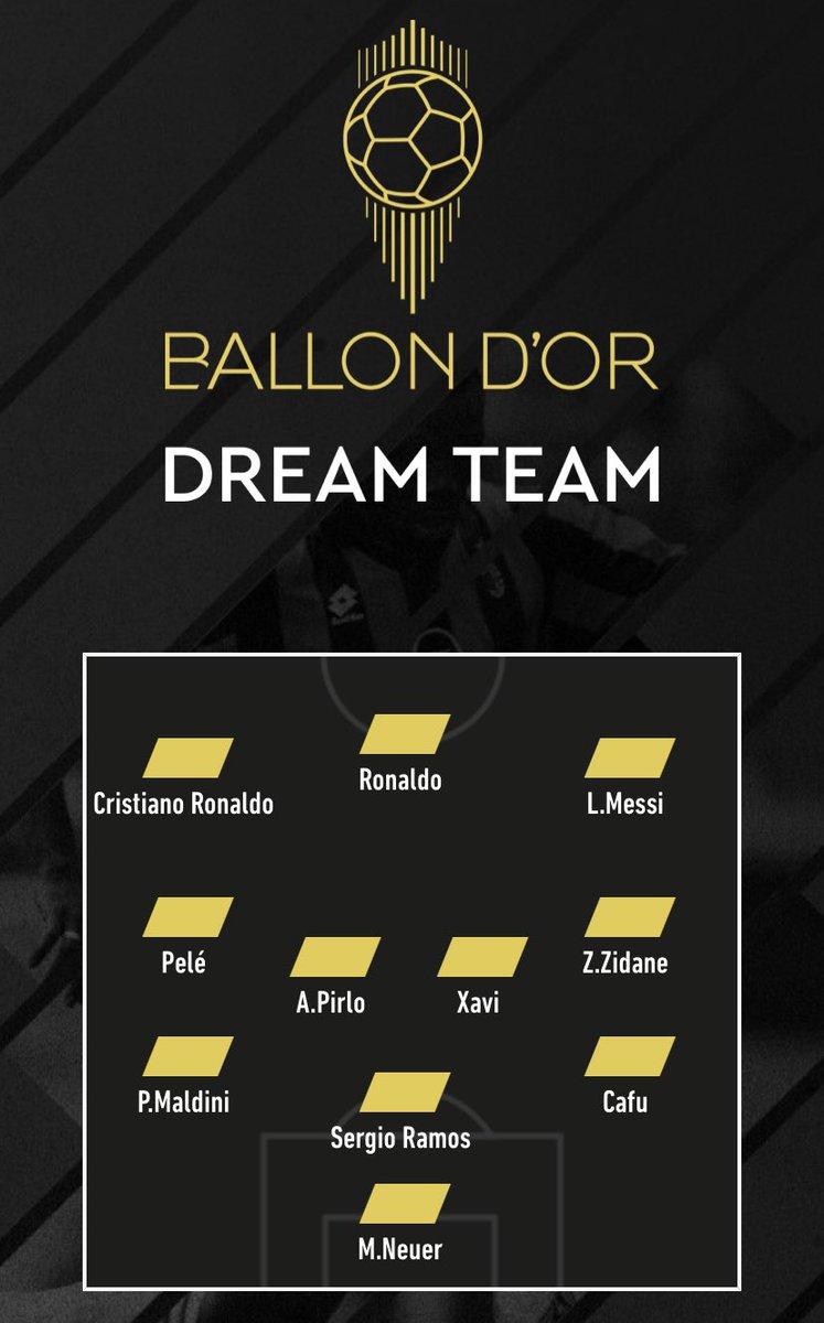 Voici mon 11 de légende Ballon d'Or Dream Team  #BOdreamteam via @lequipe