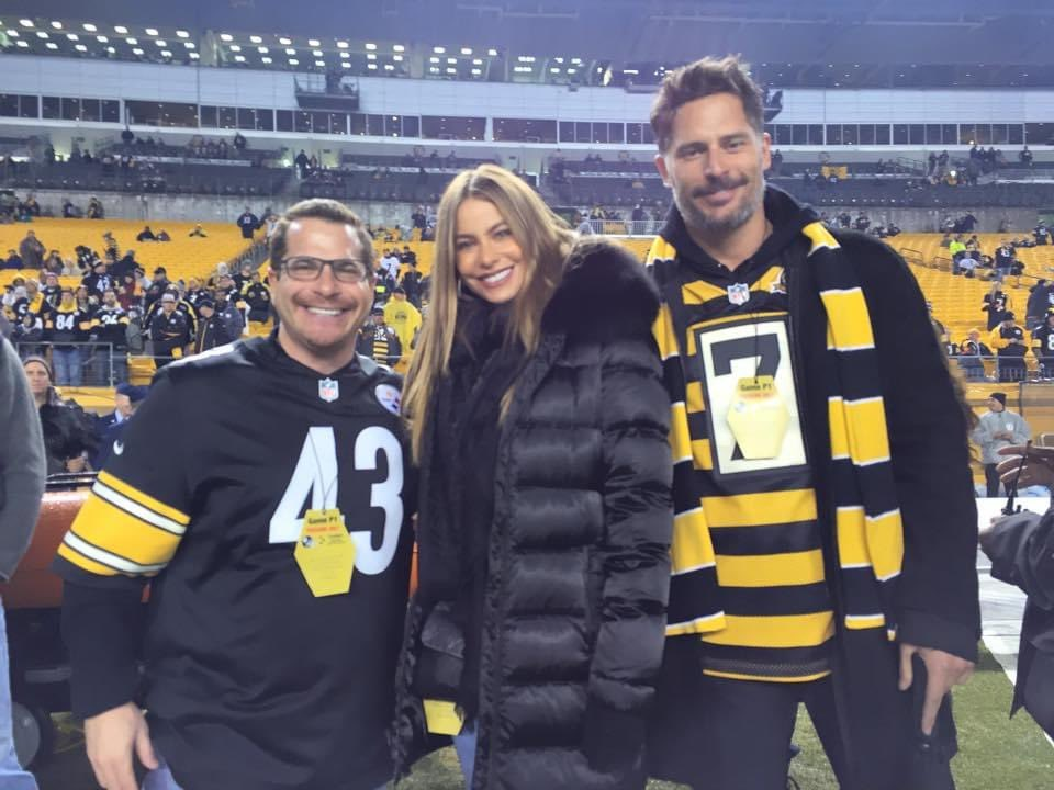 6 years ago today with my buddy @JoeManganiello and his beautiful wife @SofiaVergara. #GOSTEELERS @steelers #SteelersNation