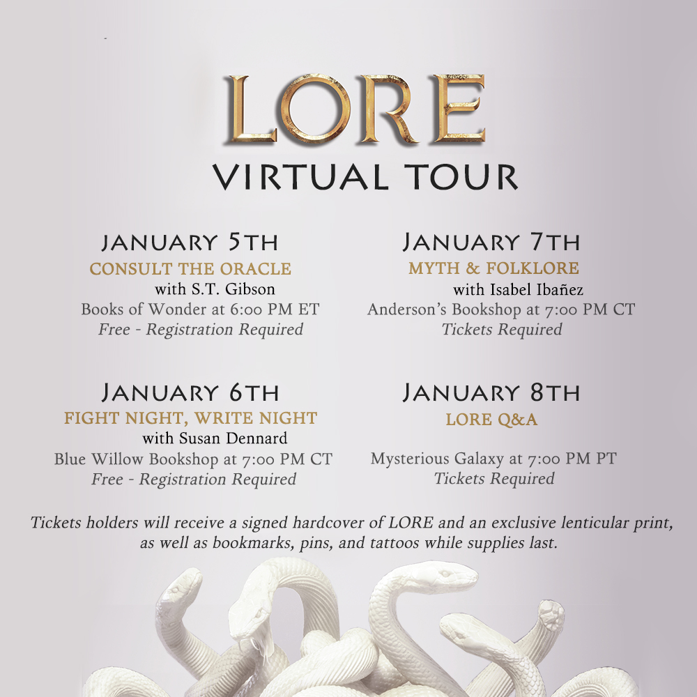 Hey guys! I just realized I never really shared the LORE virtual tour events over here (😅 forever killin' it at self-promotion) and, well, no time like the present lol