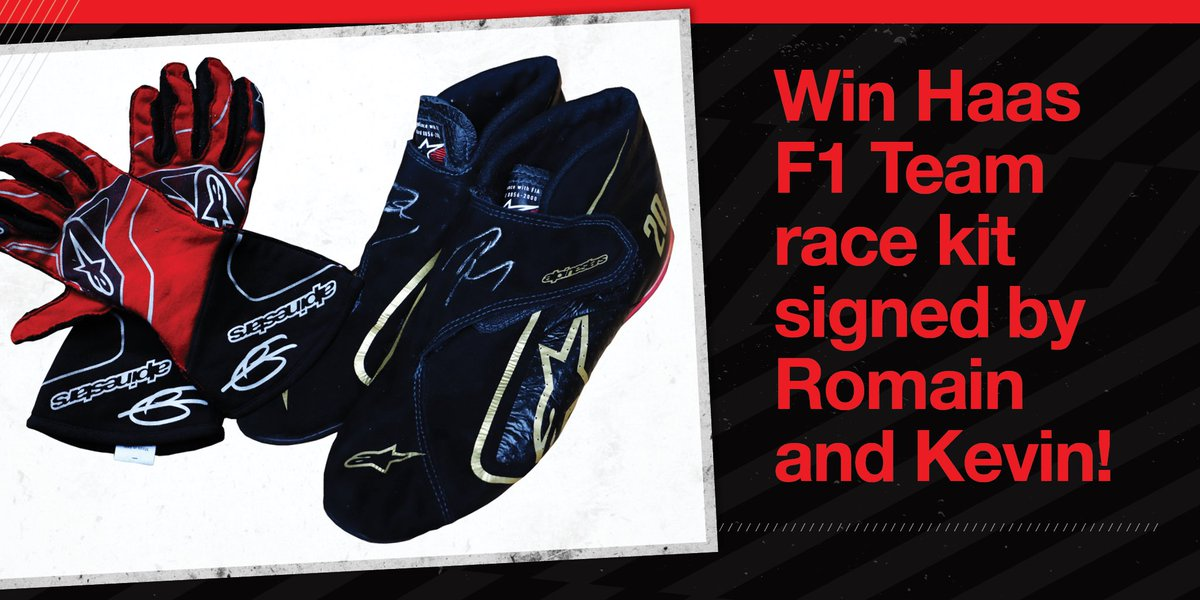 🚨 You've got 1 WEEK left to enter! 🚨  WIN a unique piece of signed Haas Race Gear 🌟  We've got race boots, gloves and Nomex tops all signed by Romain & Kevin in our latest Haas+ comp!   Enter here ➡️   #HaasF1