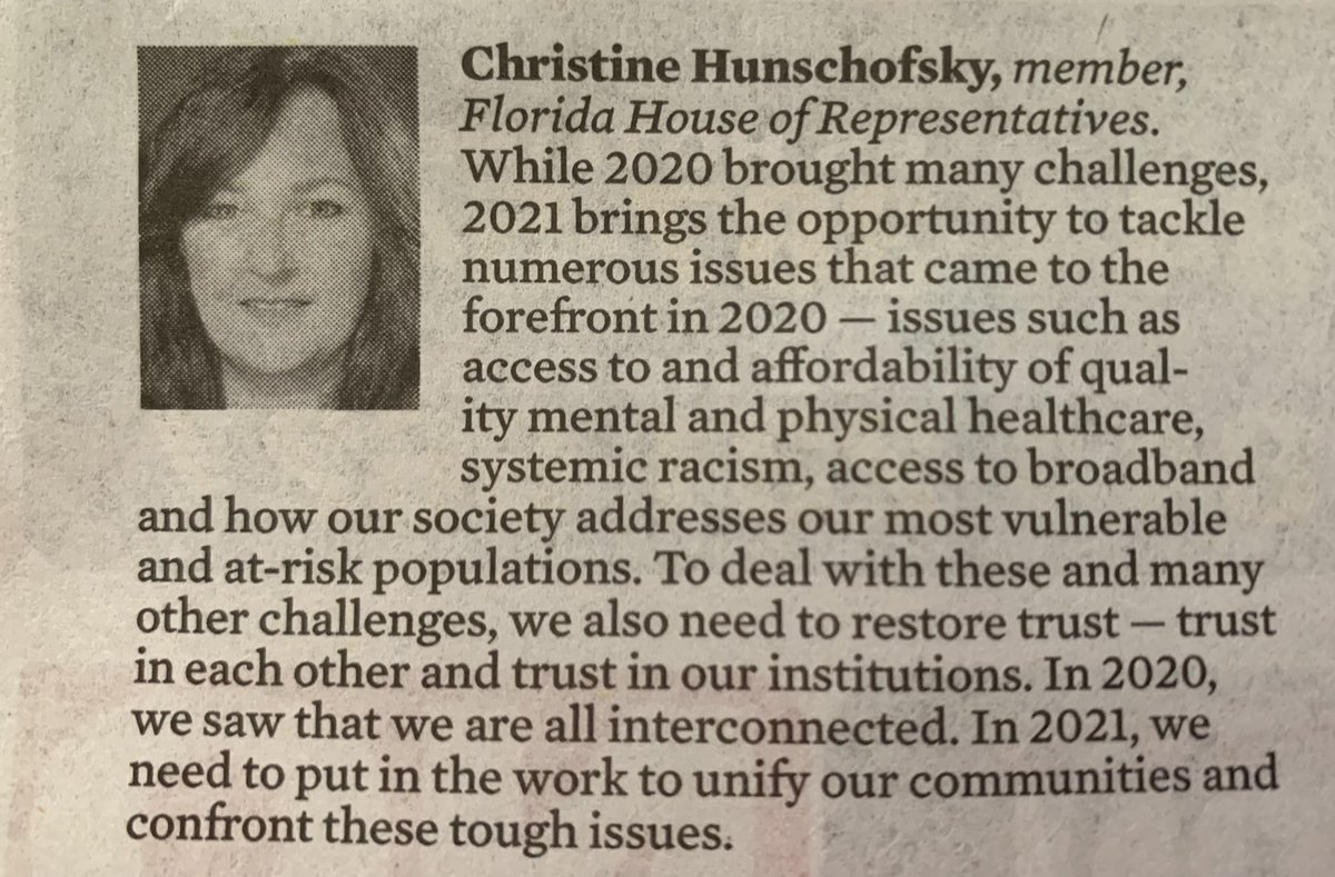 In this week's @SunSentinel @SoFlaOpinion #SF100, I share my thoughts on the work that needs to be done and how we can move ahead together for a better 2021.