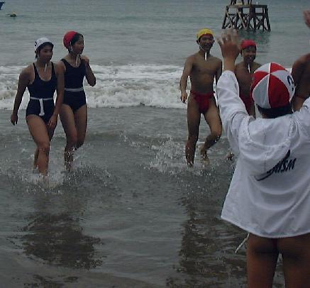 Fundoshi swimming - YouTube
