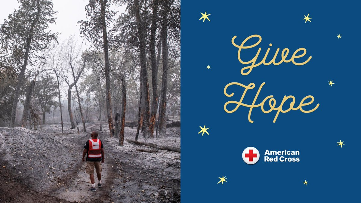 From responding to wildfires out West to hurricanes in the Gulf, thousands of trained @RedCross workers have given their time and effortthis year. Please join us to help people affected by disasters big and small: #GiveWithMeaning