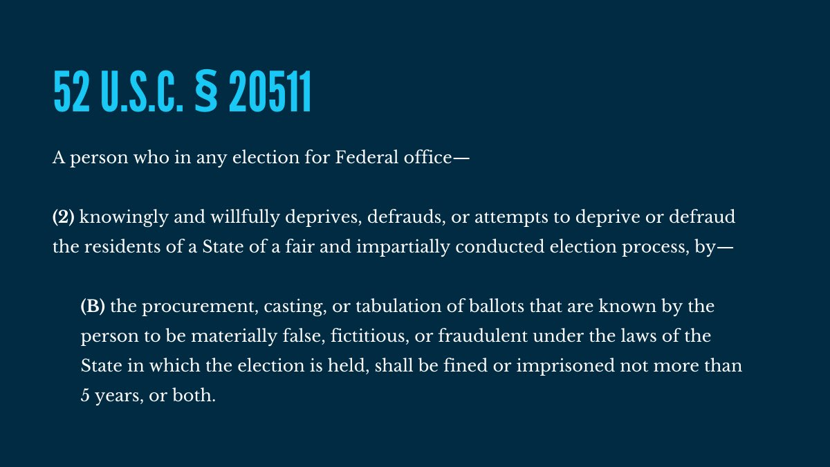 As you listen to the tape consider this federal criminal statute.