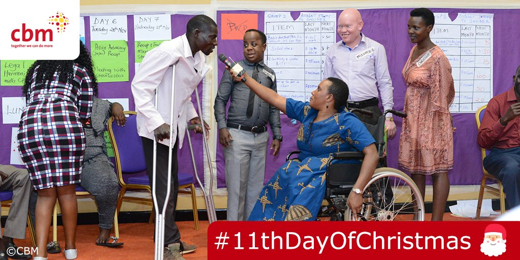 #11thDayofChristmas | On #IDPD (3 Dec) we launched 3 new films, showing how we work alongside Disability Organisations to support & equip people with disabilities to campaign for their rights - watch the films @  #DisabilityInclusion #Christmas