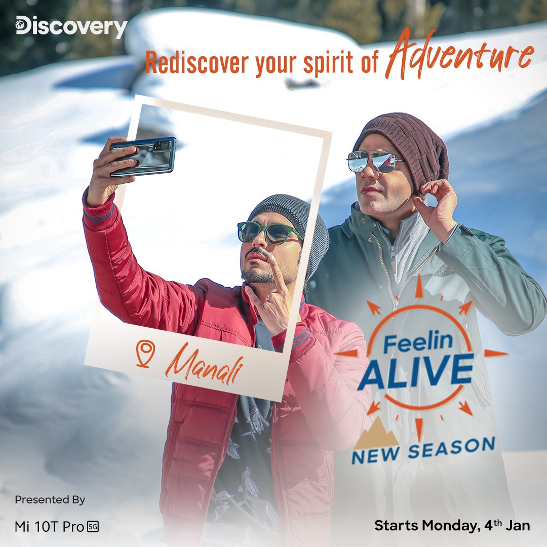 This new year, make Mi 10T Pro your phone of choice.  Watch @amolparashar and @cyrus_sahu go on an adventure with our phone in E02 of Feeling Alive S2 on Discovery today.  Also catch all the action of episode 1 which is already on air.  @DiscoveryIN #ShotOnMi10TPro #ShotOn108MP