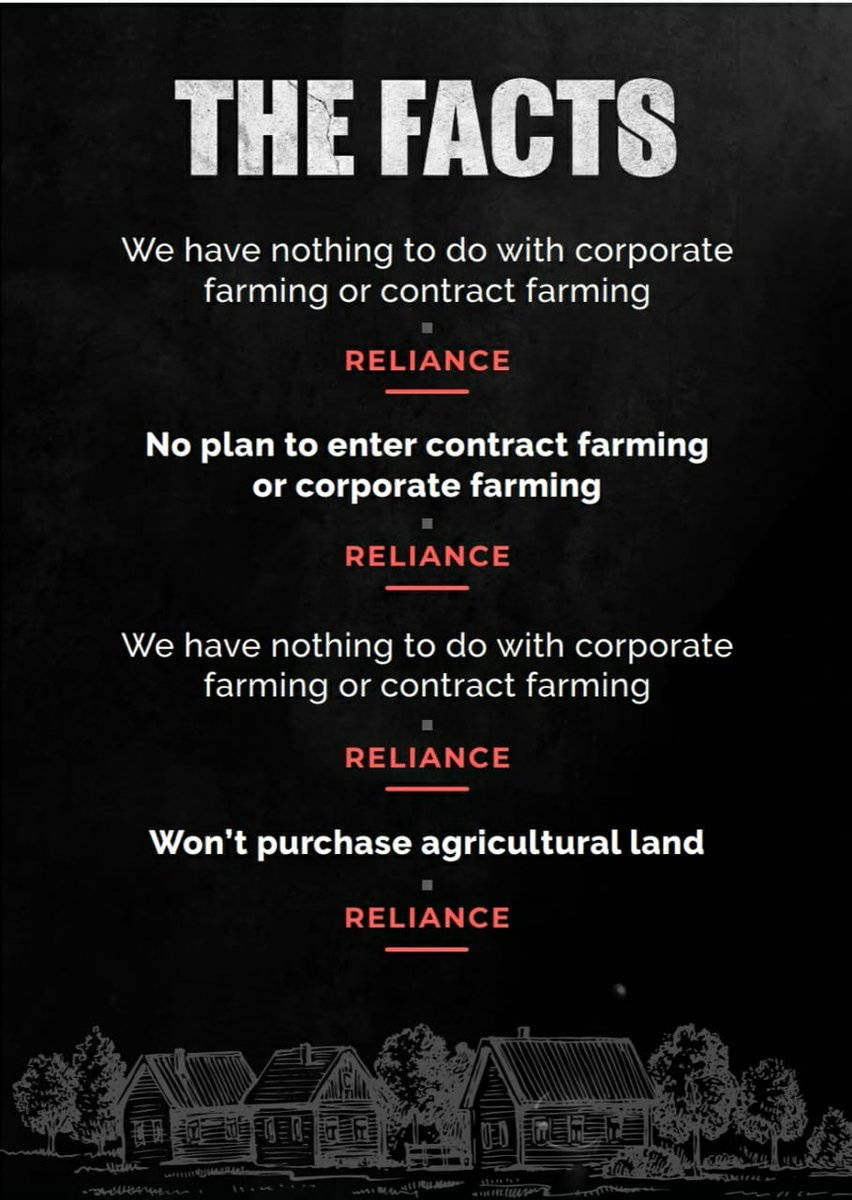 Reliance says it has nothing to do with farm laws