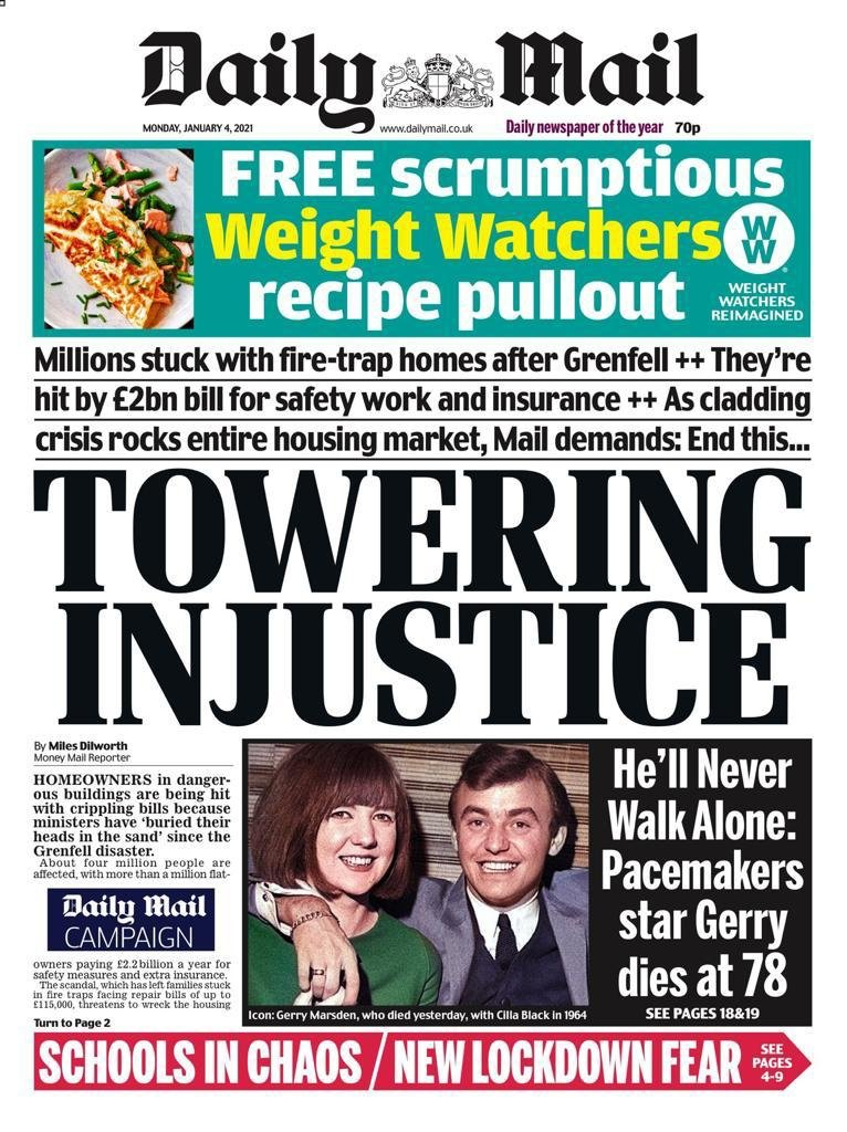 Thank you @DailyMailUK for launching your campaign to #EndOurCladdingScandal