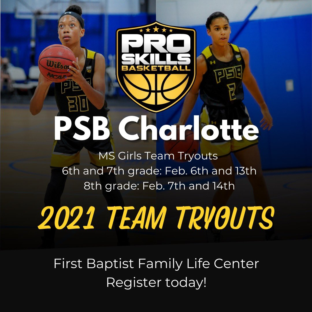 🗣 PSB Elite Girls Middle School Tryouts Are Here‼️  We are on the hunt for elite 6th-8th grade girls looking to grow with us💛