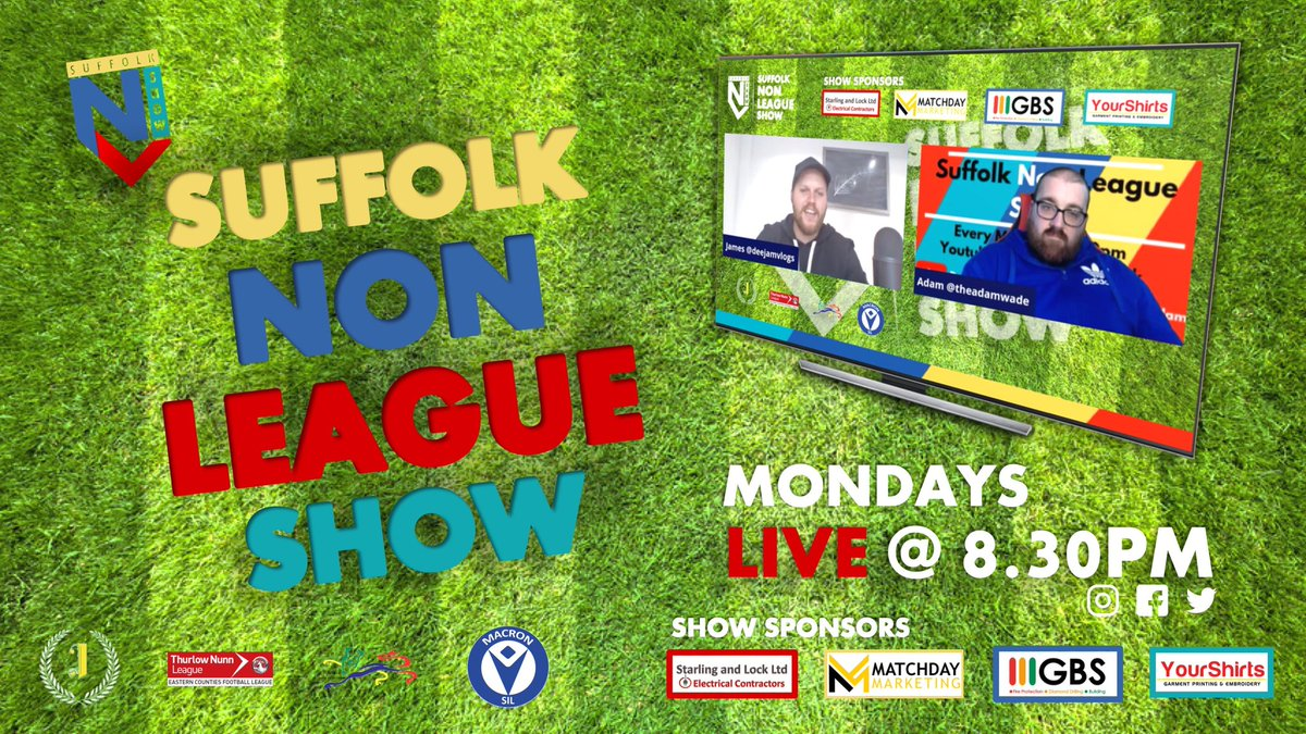 New Year. Same Suffolk Non-League Show 💪  Tune in from 20:30 with @deejamvlogs & @theadamwade 👇