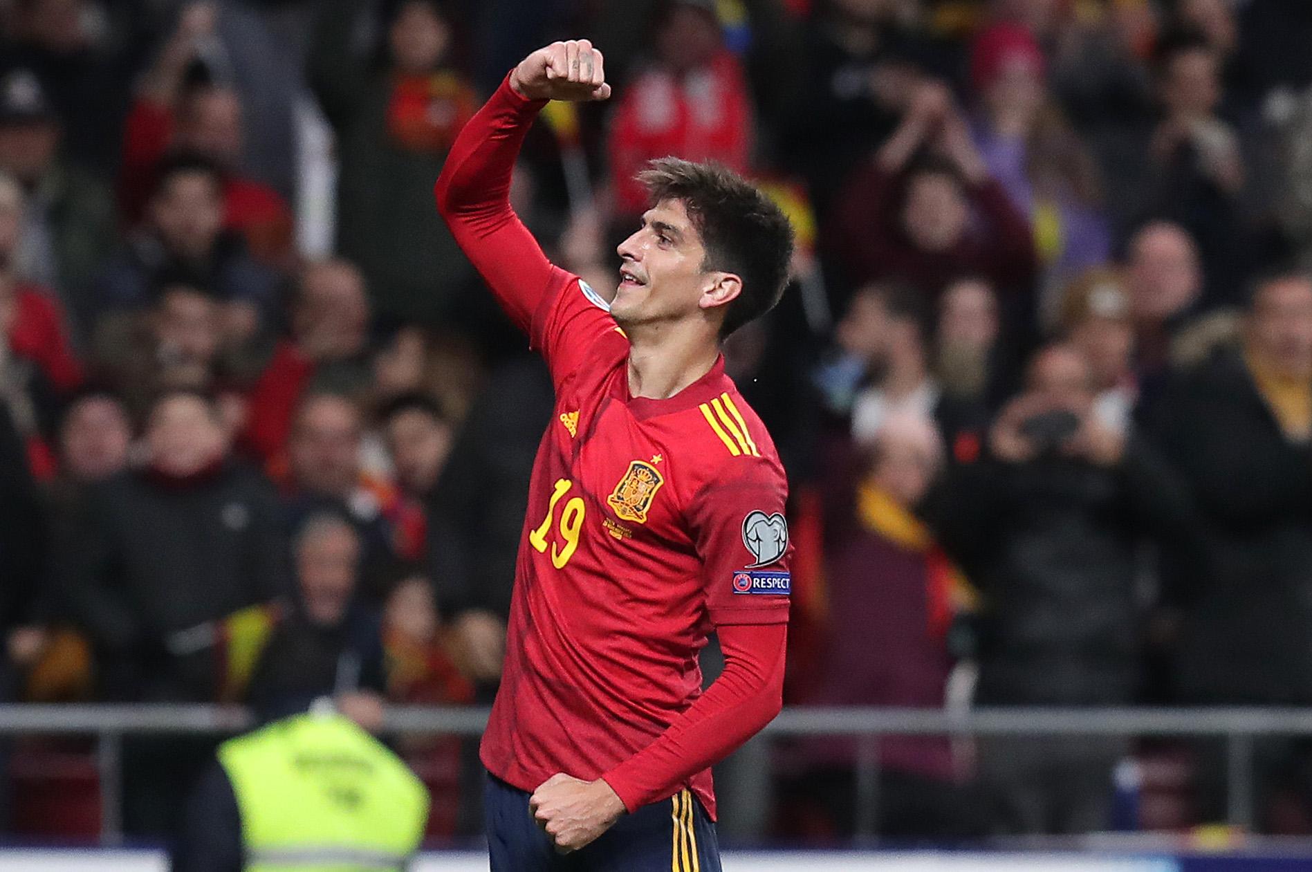 Gerard Moreno, atacante da Espanha, depois de marcar na Euro 2020