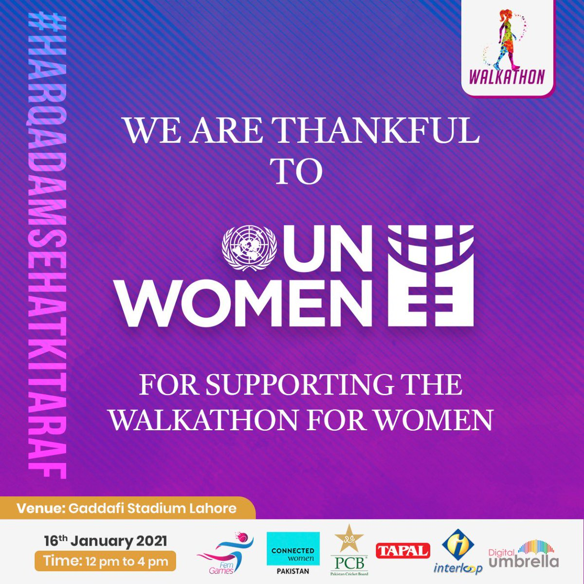 Congratulations @EbbaQ  FemGames is organizing Walkathon event to promote women's health and fitness inviting all females to come join at the event and have a chance to win exciting prizes and goodie bags!!
