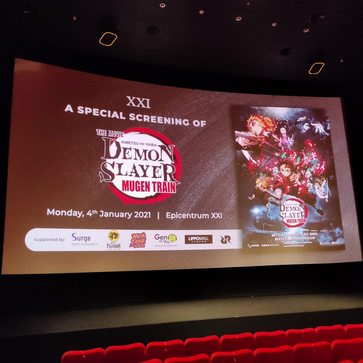 Kami mendapatkan kehormatan untuk menghadiri Special Screening film Demon Slayer Kimetsu No Yaiba The Movie: Mugen Train yang akan tayang reguler di bioskop Indonesia mulai tanggal 6 Januari 2021.  Ayo #NontonAnimeDiXXI   #DemonSlayertheMovieMugenTrain