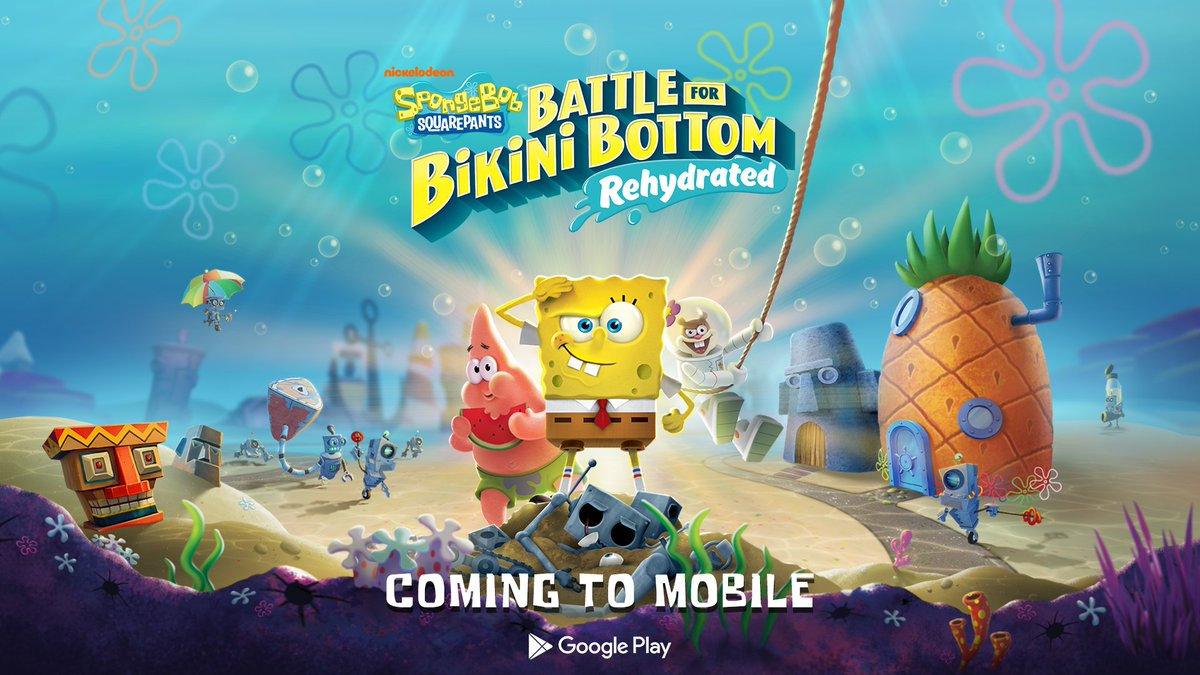 Do you smell it? That smell. A kind of smelly smell. The smelly smell that smells...smelly.  SpongeBob SquarePants: Battle for Bikini Bottom - Rehydrated is coming the @GooglePlay Store on 1/21/21  #SpongeBob