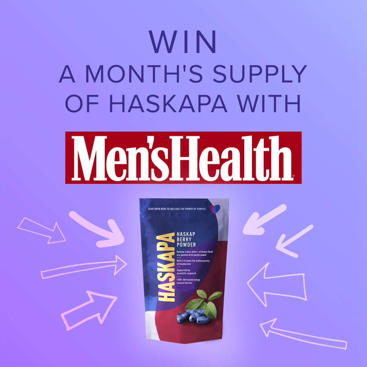 RT @Haskapa: We're partnering with @MensHealthUK  for a special competition to kickstart 2021 - sign up here: https://t.co/kBs07FxOrF  #giveaway #competition #competitionalert #veganuary #veganuary2021 #healthyjanuary #NewYearNewMe #healthy #superberry … https://t.co/8pmU9Y1aCA