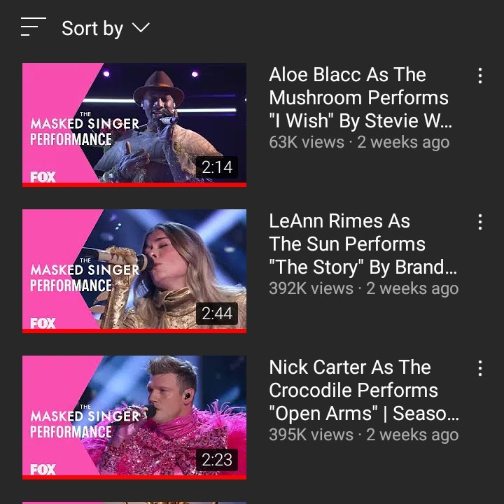 I know I'm bringing this AGAIN but I can't help myself.NICK'S UNMASKED PERFORMANCE HAS THE MOST VIEWS AMONG ALL 3 NOW AND HE DIDN'T EVEN GET THE 2ND PLACE.AND IM STILL PISSED OFF.HE ATLEAST DESERVED THE 2ND PLACE! @MaskedSingerFOX @nickcarter #crocodilemask