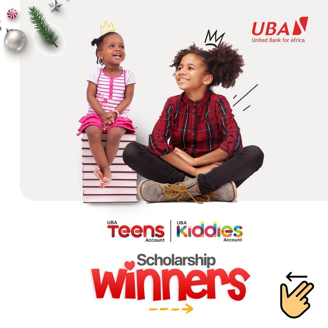 Congratulations to our scholarship winners 🥳  Last December, we held the UBA Teens and Kiddies scholarship draws and 20 kids/teens emerged winners. #UBATeensAccount #UBACares #UBAKiddiesAccount