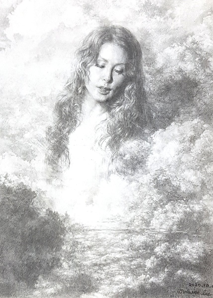 """Thank you, Xavier Lee for this stunning pencil sketch of Sarah inspired by """"Nella Fantasia."""" Tag your artwork with #SarahBrightman for an opportunity to be featured on Sarah's social media channels and the website. https://t.co/sd8KwAhcfE"""