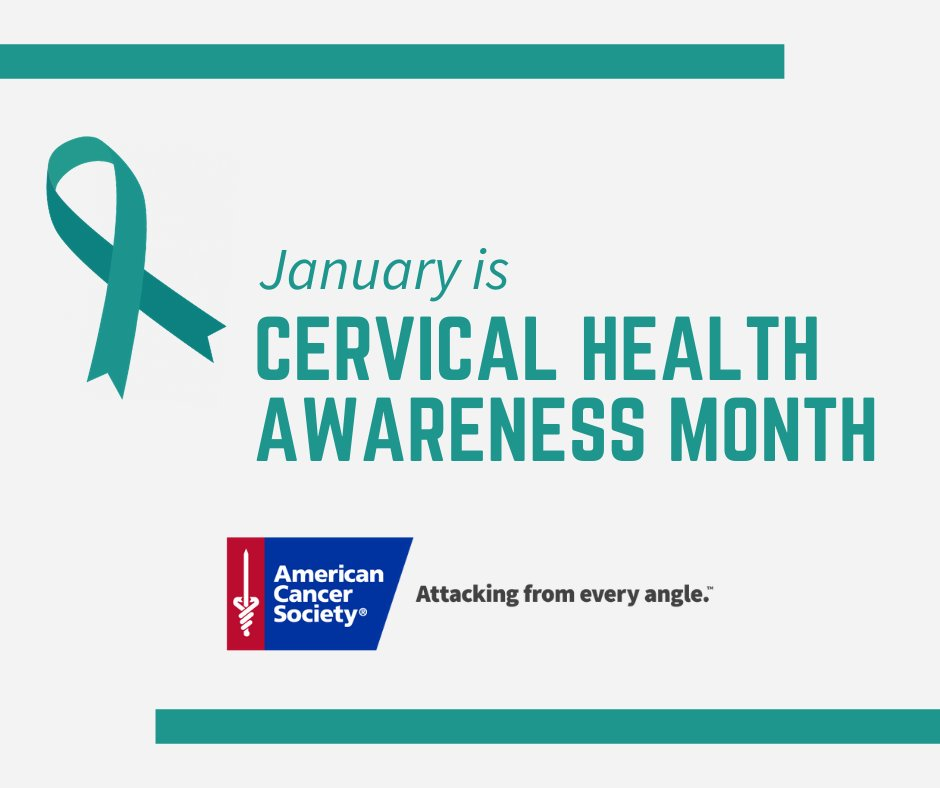 January is #CervicalHealthAwarenessMonth. #CervicalCancer will be diagnosed in more than 13,000 women in the U.S. this year. Visit  to learn more about cervical cancer screening guidelines, treatments and research.