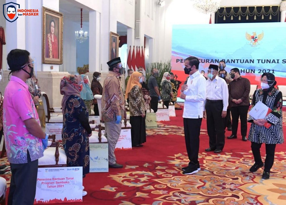 Pada hari kerja pertama tahun 2021, ini yang saya lakukan: meluncurkan program Bantuan Tunai se-Indonesia berupa Program Keluarga Harapan, Program Sembako, dan Bantuan Sosial Tunai.   Semoga meringankan beban keluarga yang terdampak pandemi Covid-19.