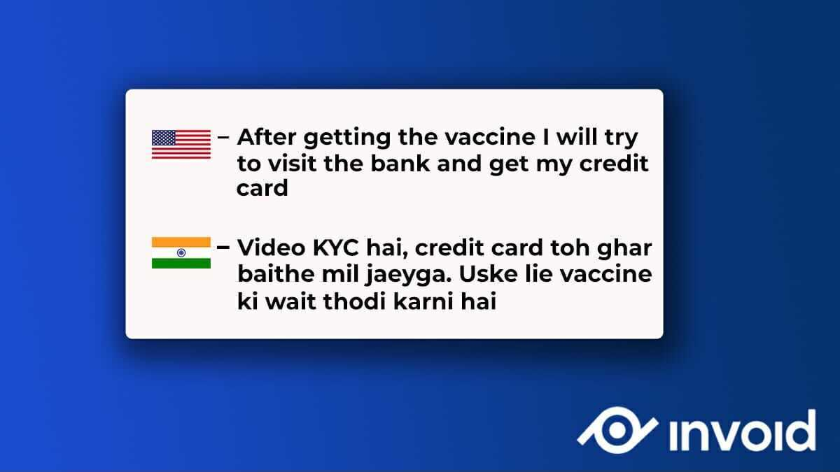 We don't think you should also depend on vaccine to get your cards or to open a bank account 🤔  #videokyc #kyc #india