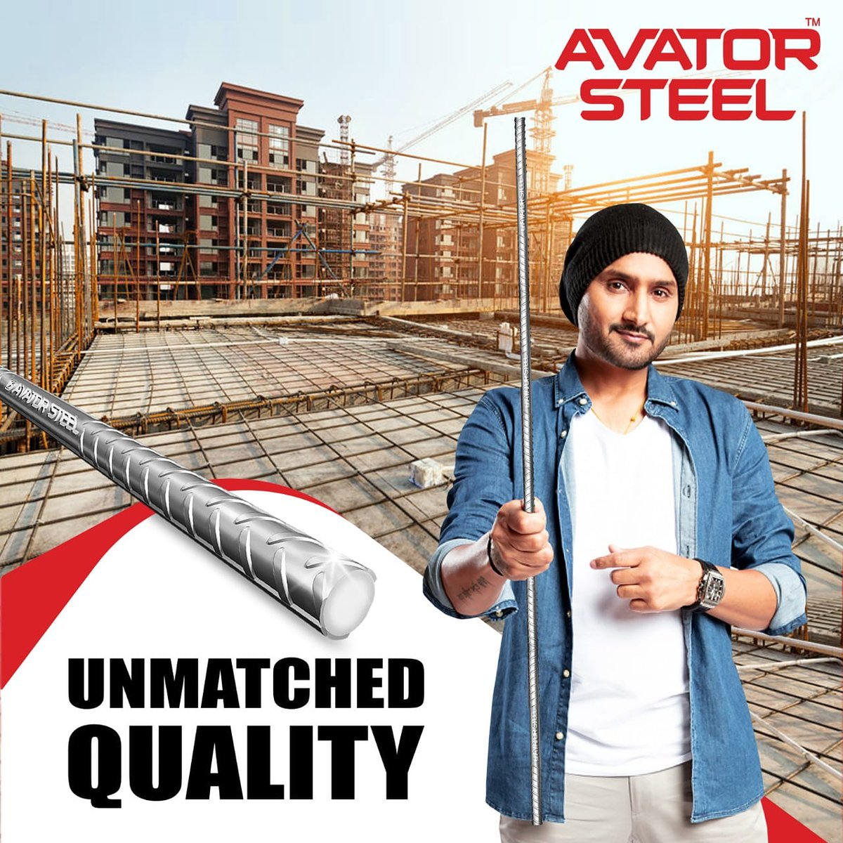 #AvatorSteel provides unparalleled strength to your dream home, protecting your family for years.   @harbhajan_singh