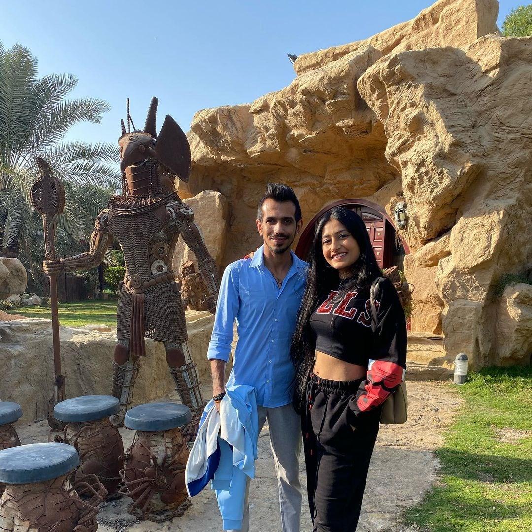 The Dubai Honeymoon!!! ❤❤ #AUSvIND @yuzi_chahal #DhanaSaidYuz  PICS |