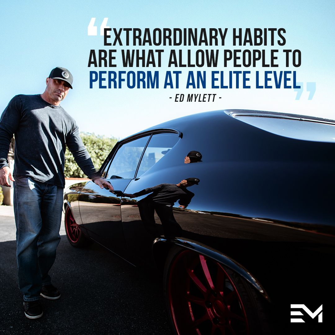 """Show me your HABITS and I'll show you the life you will inevitably experience. The great separator in life that differentiates SUCCESSFUL people and AVERAGE people is that successful people get the job done on the inevitable days, they are NOT MOTIVATED, not """"feeling it."""""""