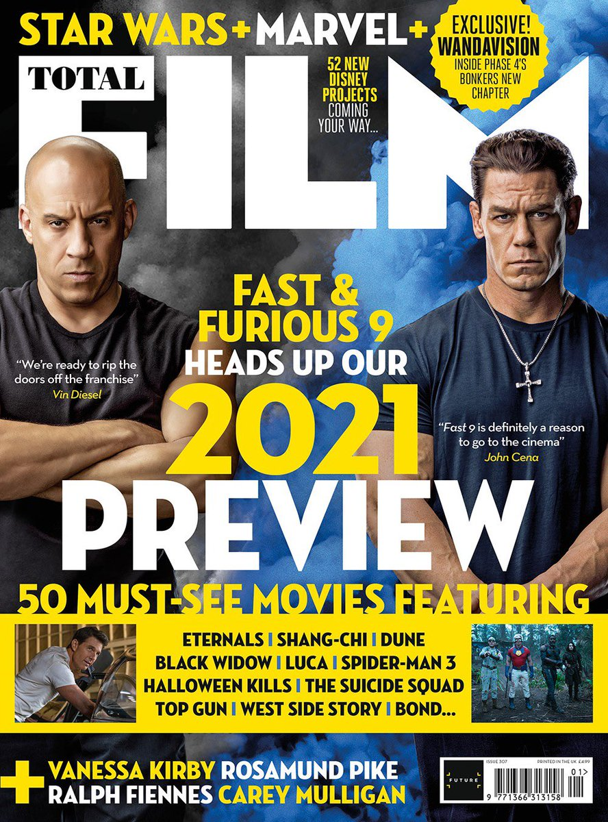 Been ready see this project come to audiences since I first stepped on set. Hope you're as excited as we are! A new interview for @totalfilm hits UK newsstands THIS Friday, January 8th.  #Fast9 #F9