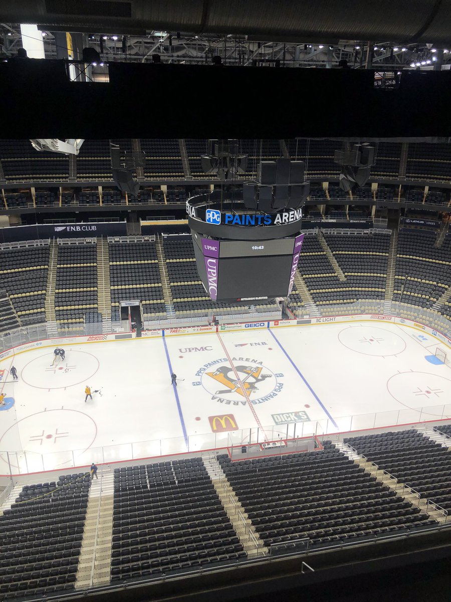 First time back in the rink since March 8, 2020 vs. Carolina. Penguins training camp about to officially begin. #Pens
