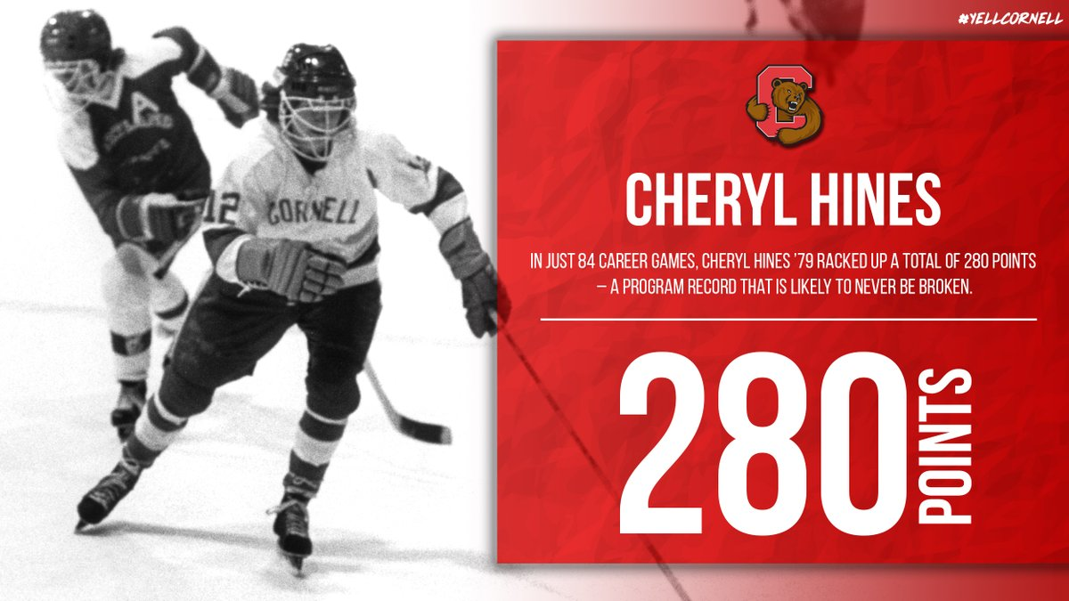 WIH: In just 84 career games, Cheryl Hines '79 racked up a total of 280 points – a @CornellWHockey program record that is likely to never be broken. #YellCornell https://t.co/kaiezTjlAk