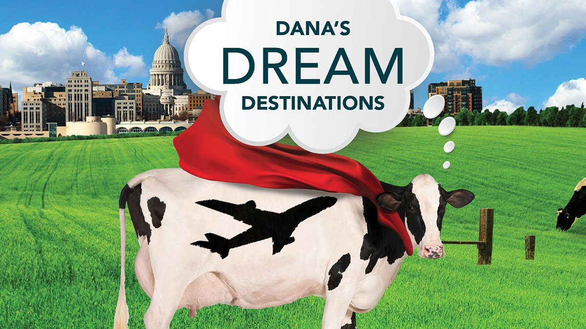Dane County Regional Airport's mascot Dana the Cow is making some big travel plans for 2021! Follow along throughout the month of January to learn about a few of her dream travel destinations. and let us know what are some of YOUR dream destinations to make it to this year?