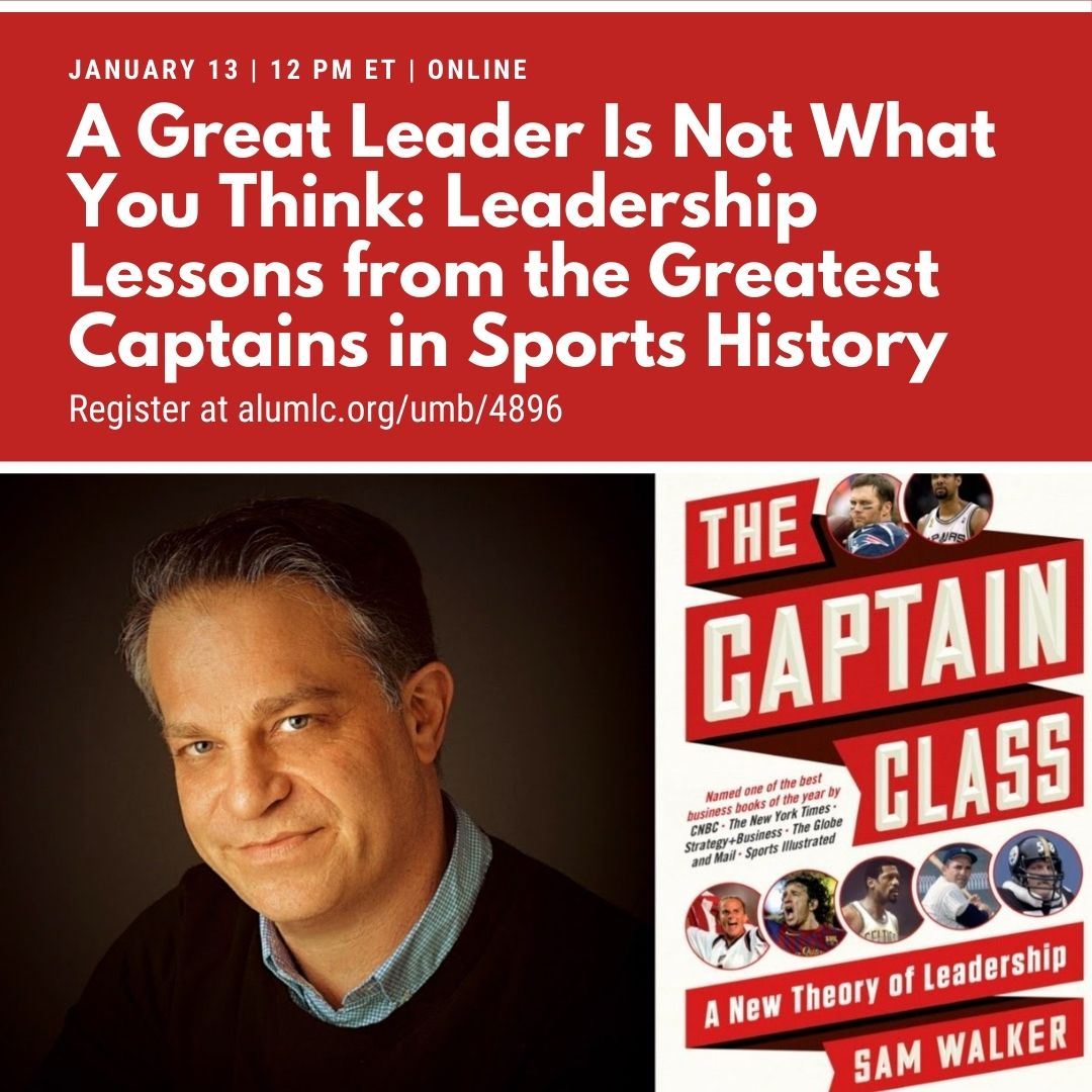 """Tune in on Wednesday, January 13 for our next Beacon webinar event: """"A Great Leader Is Not What You Think: Leadership Lessons from the Greatest Captains in Sports History."""" Learn more and register now at"""