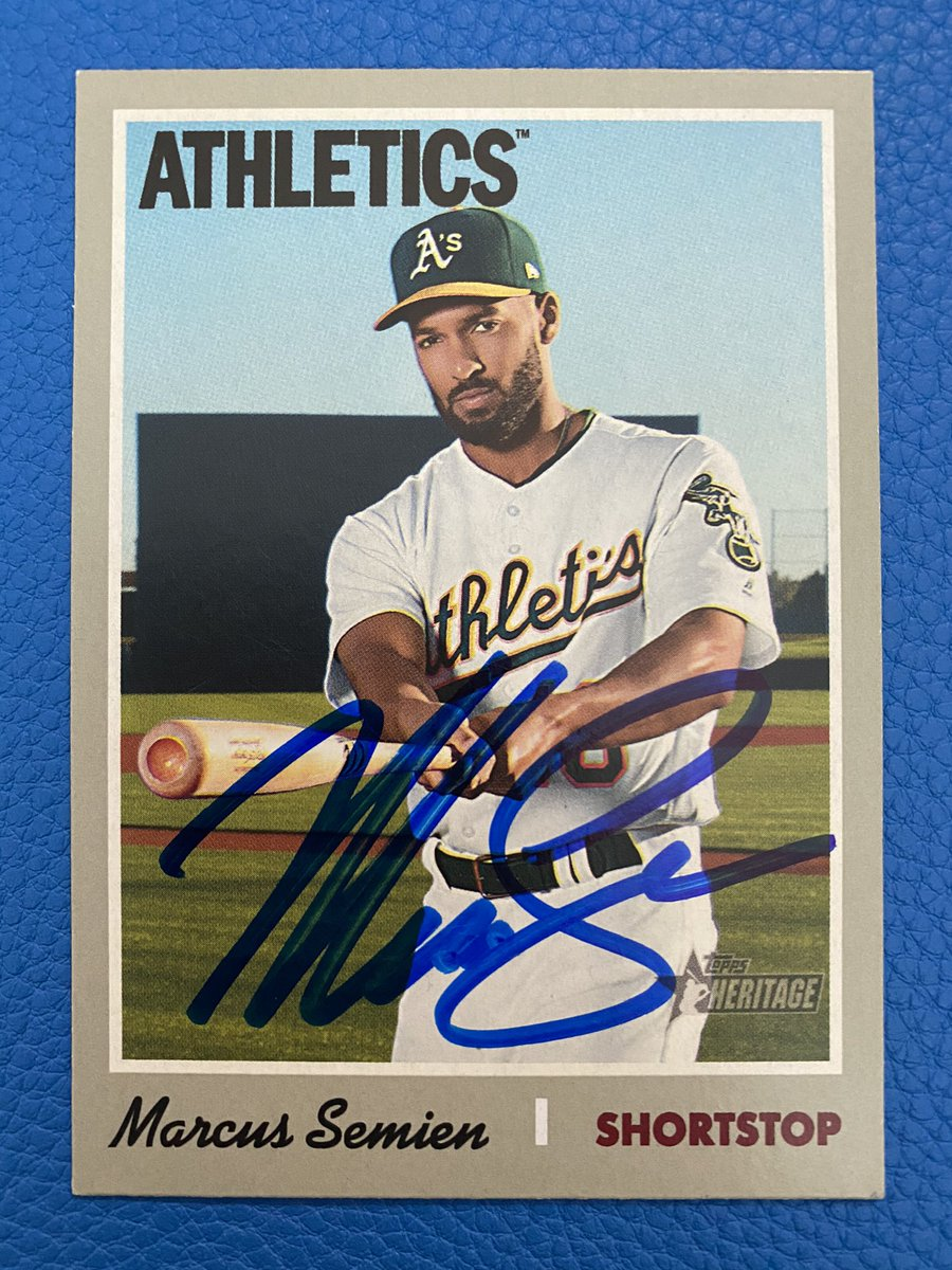 Prize Giveaway Update! Today is the last day to enter to win this Oakland A's Marcus Semien autographed Topps baseball card. To enter follow me and retweet. Winner announced tonight! @Athletics @Topps #RootedInOakland #GiveawayAlert #Athletics #Contest #MLB #BeKind #Payitforward