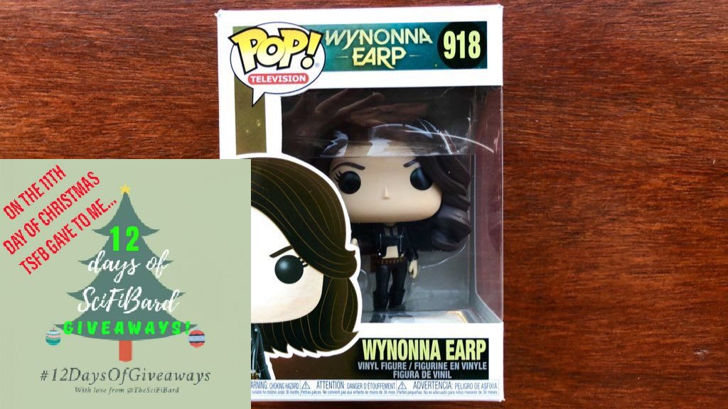 🎶 On the 11th day of Christmas, TSFB gave to me...🎶  She's whiskey soaked, plastic & reckless - it's a #WynonnaEarp Funko! 😎  TO ENTER: FOLLOW me Like/retweet this WORLDWIDE?: Yes  CLOSES: 11:59pm GMT tonight (4th)   #12DaysOfGiveaways #SpreadJoy THE LAST GIVEAWAY IS TOMORROW!