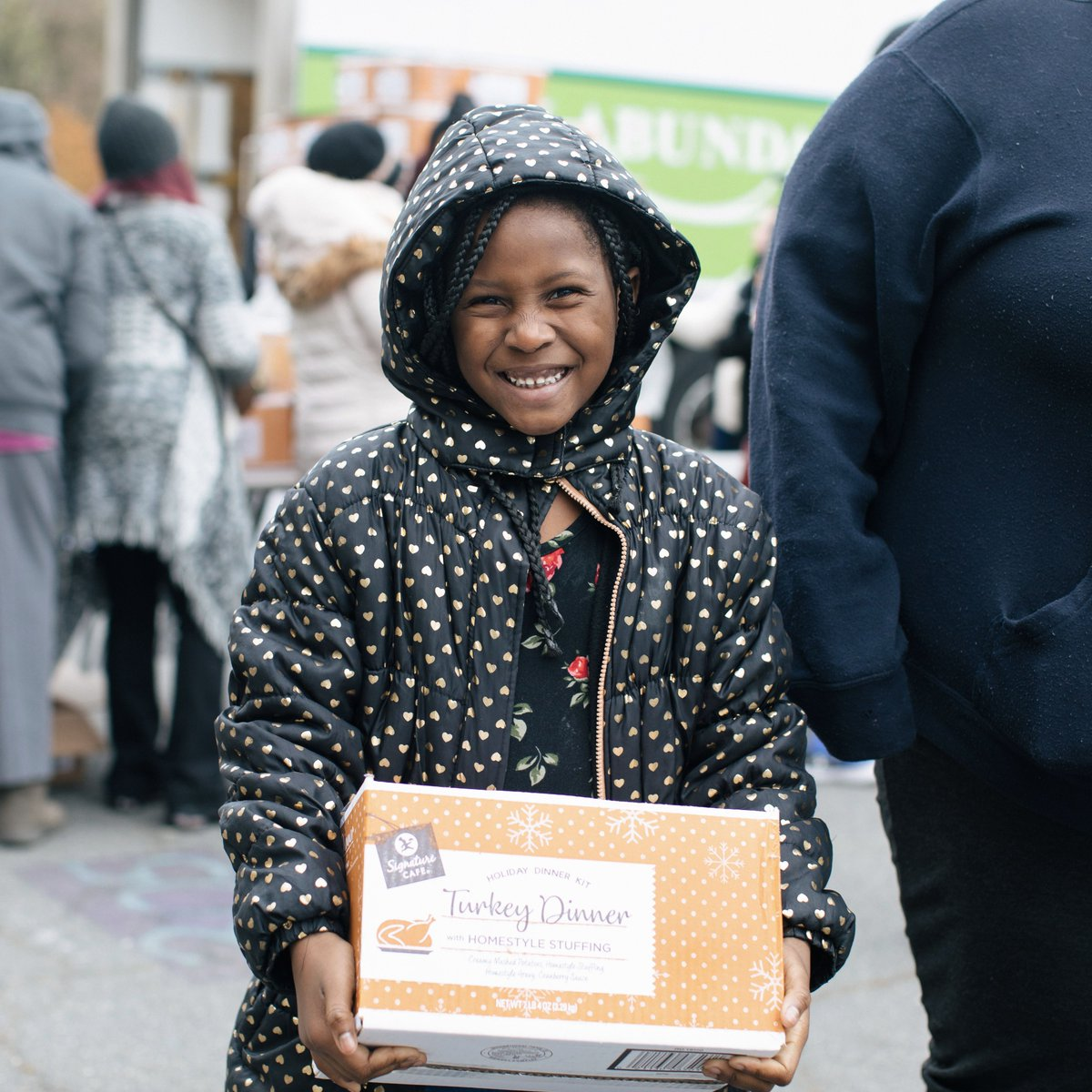 """We're just really grateful. And because of this food, I can buy my daughter new shoes and a coat this winter."" -Taleka, mom of 7-year-old Alayaha  Help families faced with tough choices this winter:"