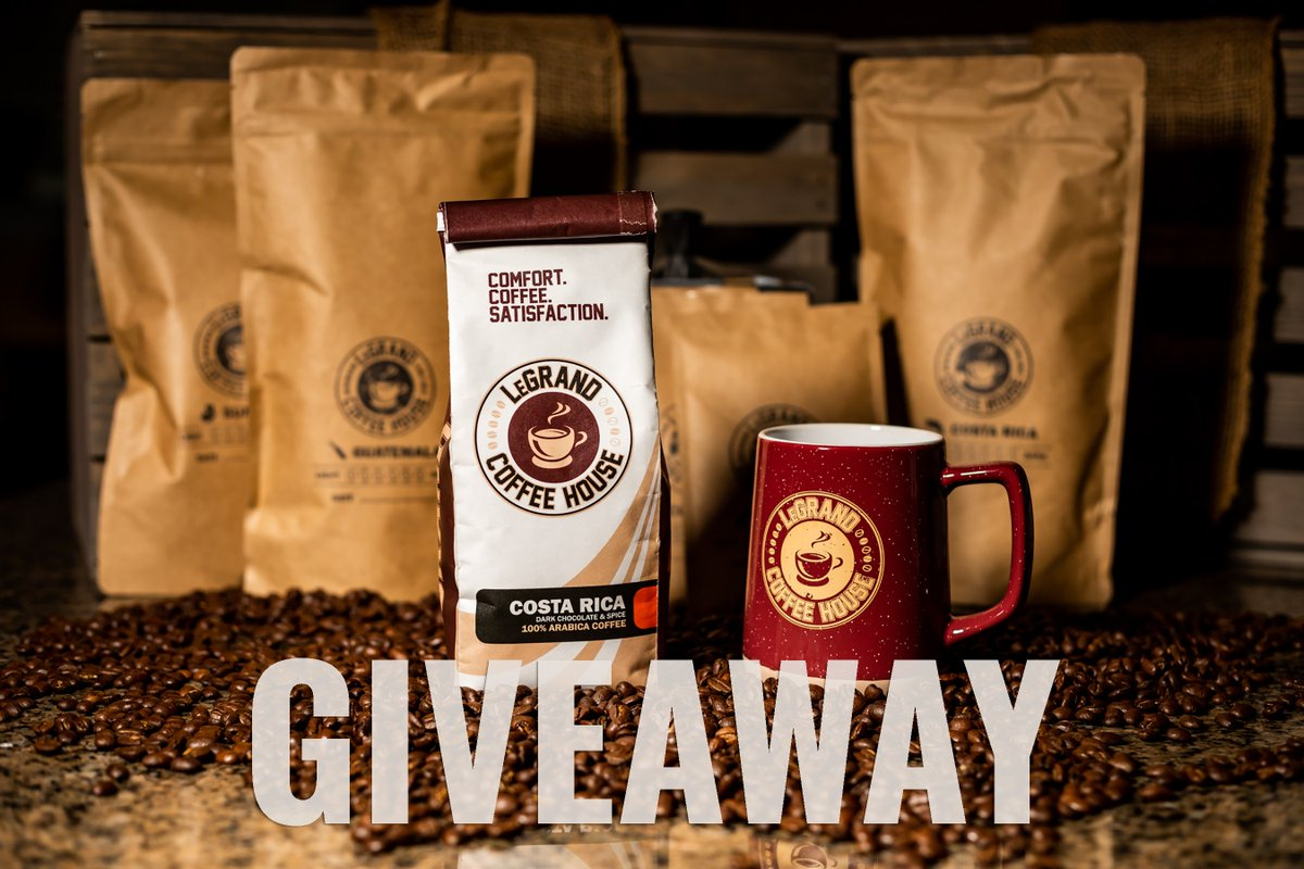 🚨 GIVEAWAY 🚨  Want to be one of the first people to try LeGrand Coffee? RT this tweet for your chance to win a complete collection of our newest blends (and mug!) before the store launches on 1/12/21.   (Open to US residents only. Twitter is not affiliated with this contest.)