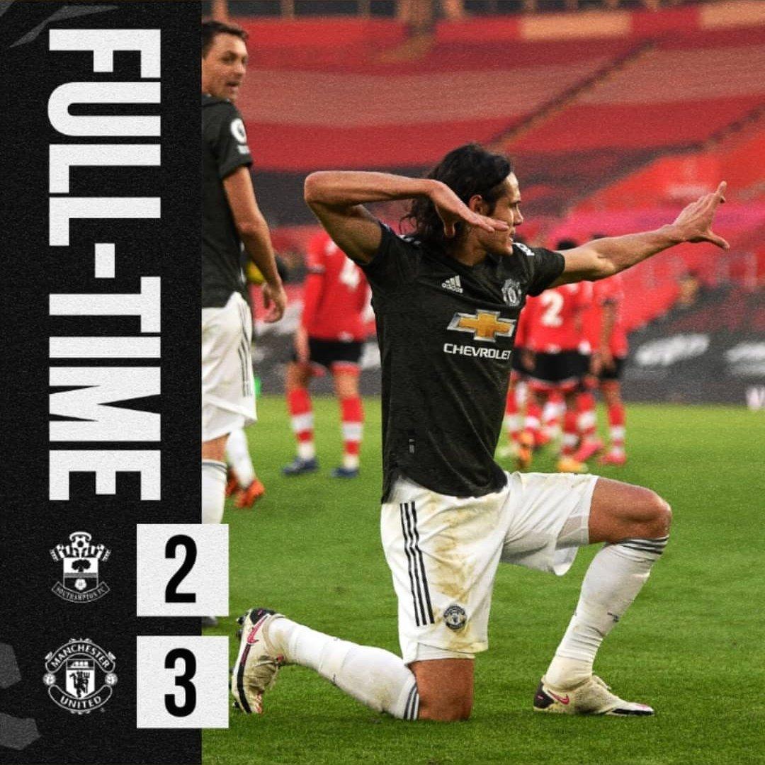Gak semua tim bisa menang secara dramatis di kandang Southampton musim ini apalagi tertinggal 2 gol terlebih dahulu  Mental  Ttd, Manchester United Football Club  #MUFC