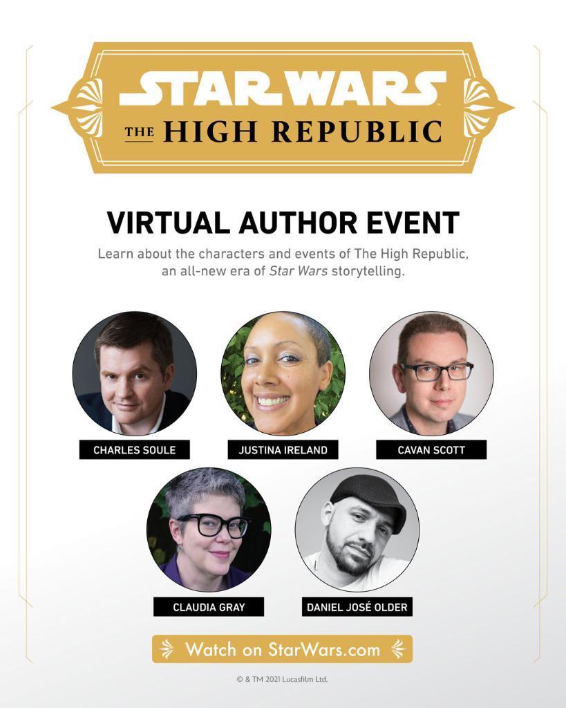 ICYMI: Watch a replay of the #StarWarsTheHighRepublic live stream launch event here:
