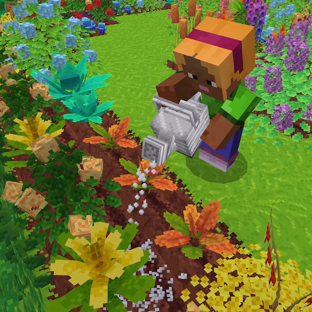 Breathe in, breathe out! Tune out the zombie growls and find your inner peace with today's Community Celebration gift for Bedrock: the ever-so-tranquil Bloom map by @gmodeone!  ↣  ↢