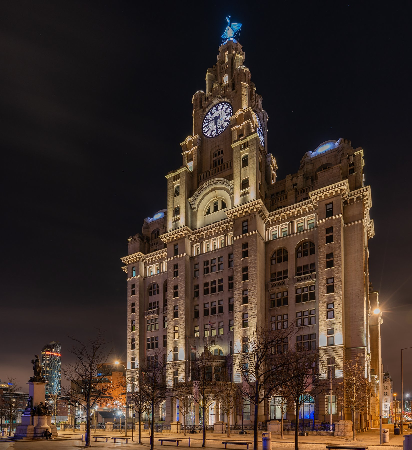 Royal Liver Building, Liverpool at night