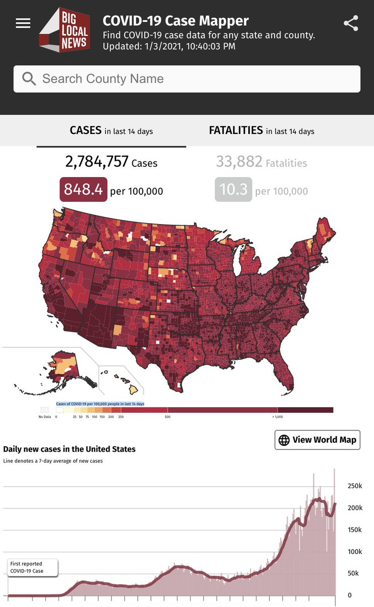 The #COVID19 case mapper #dataviz - supported by The Google News Initiative - shows local case and death numbers and is embeddable for use by local reporters.  Made by @BigLocalNews and @pitchinc