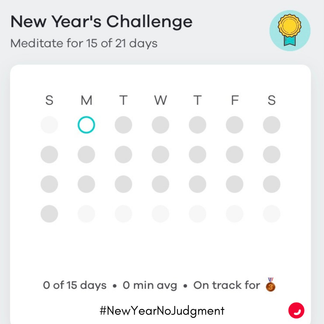 Let the games begin! Today is a blank slate. A chance to simply begin again. Remember: even one minute counts in the #NewYearNoJudgment meditation challenge which begins today.