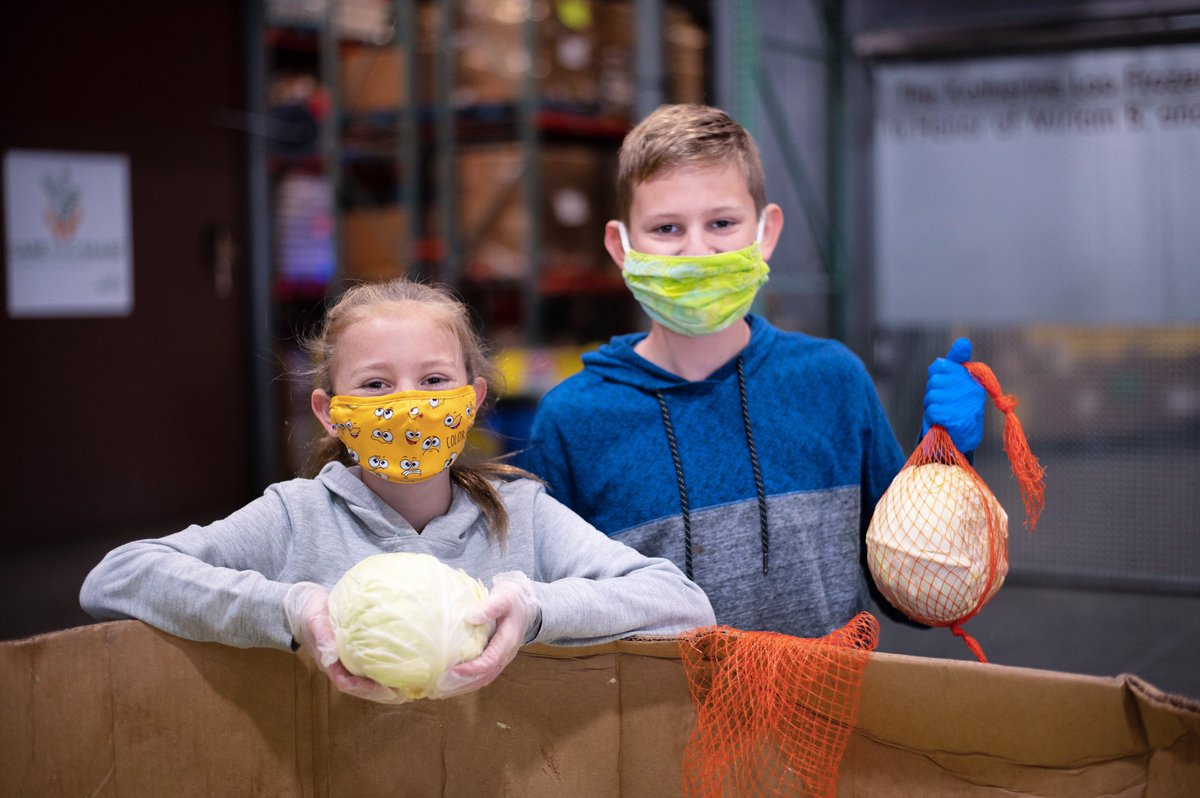 "Mackenzie and Tysen are kicking off the new year by volunteering at our Distribution Center! ""I feel really good about helping people,"" said Mackenzie. ""We all deserve to live our lives with good food and experiences.""  Volunteer:"