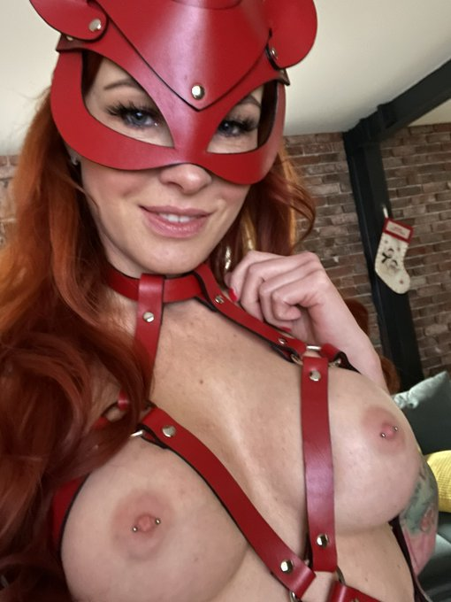 #miau #meow #leather #red #dress #cat #ginger #harness https://t.co/nb1ZciDfkl