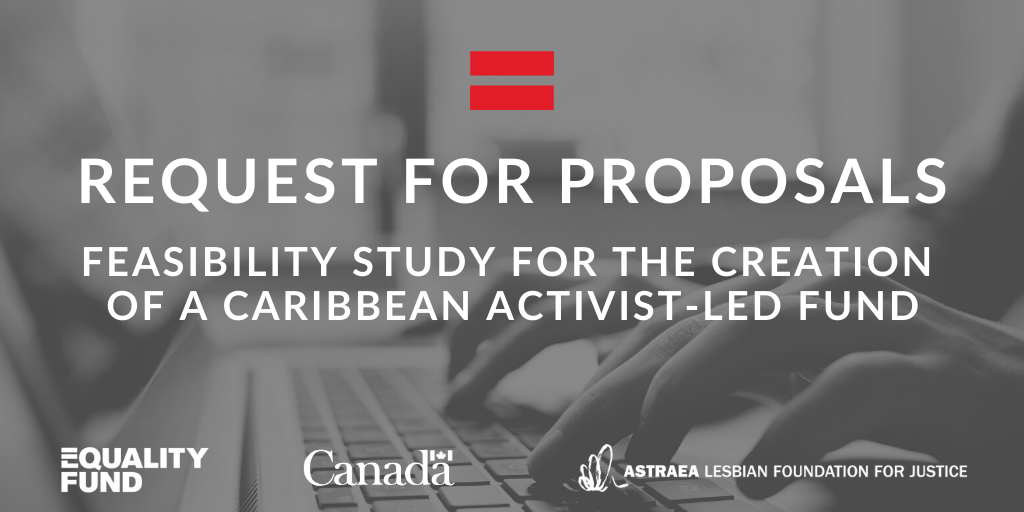 The Equality Fund & @AstraeaUpdates are seeking a consulting team or individual to explore the feasibility of a Caribbean activist-led fund to support women's rights orgs + LBTIQ groups in the #CARICOM region over the long-term. Apply by Feb 22.  Details: