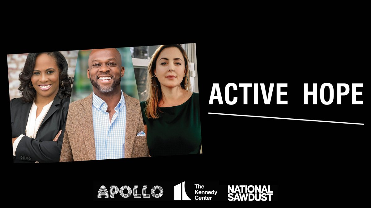 What do a theater director, a poet/TED Global Fellow, and an award-winning composer have in common? Active Hope. 💡   Alongside @ApolloTheater & @NationalSawdust, we're launching #ActiveHopePodcast hosted by @Kamilahf, @bamuthi, @paolaprestini.  Details ➡