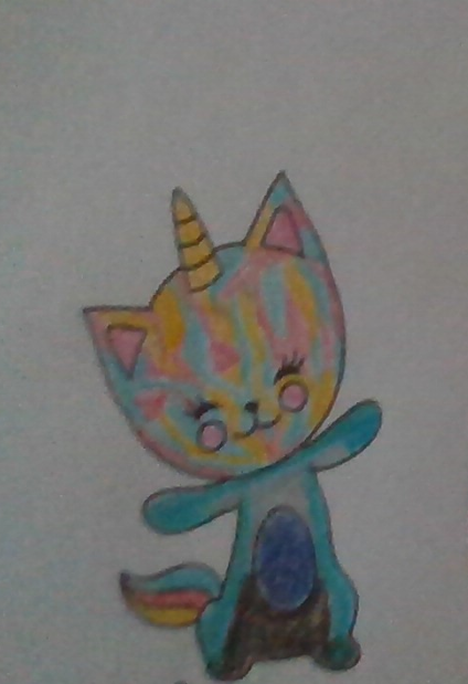 I colored a kitty that looks like awsten knight today  #lowkeyashell
