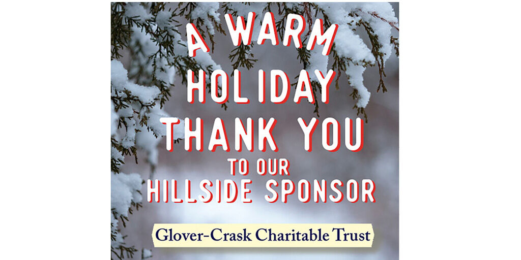 Hillside's entire Special Santa team wishes to thank our amazing sponsor, the Glover-Crask Charitable Trust. From the many kids and families served by Hillside, Thank-You! #holidaycheer #HillsideStrong #holidaygiving  Photography credit @AaronBurden